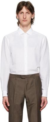 Ermenegildo Zegna White Plain Shirt