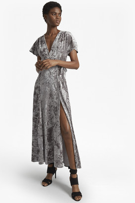 French Connection Aurore Crushed Velvet Maxi Dress