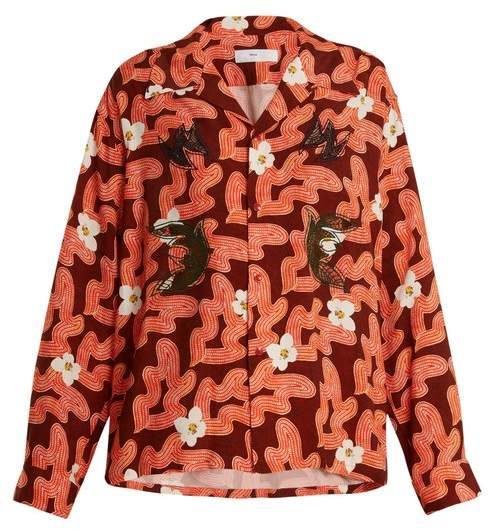 Toga Floral Abstract Print Shirt - Womens - Red
