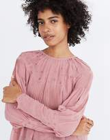 Madewell Ulla JohnsonTM Embroidered Silk Alba Top