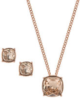 Givenchy Crystal Earrings and Pendant Necklace Cushion Set