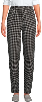 Lands' End Petite Sport Knit High Rise Corduroy Pull-On Pants