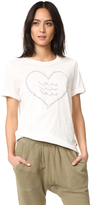 Sol Angeles Corazon Rolled Sleeve Tee