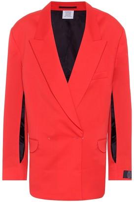 Vetements Wool-twill blazer