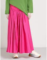 Stella McCartney Cynthia high-rise woven maxi skirt