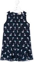 Armani Junior swan print sleeveless dress