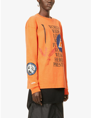 Heron Preston Collage graphic-print cotton-jersey T-shirt