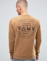 Friend Or Faux Critic Back Print Sweater