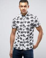 Blend of America Palm Print Shirt Short Sleeve