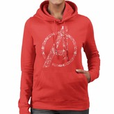 Thumbnail for your product : Marvel Avengers A Icon with Iconography Women's Hooded Sweatshirt Red