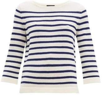 A.P.C. Claudine Breton-striped Merino Sweater - Womens - Navy White