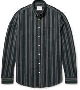 Steven Alan Masters Button-Down Collar Striped Brushed-Cotton Shirt