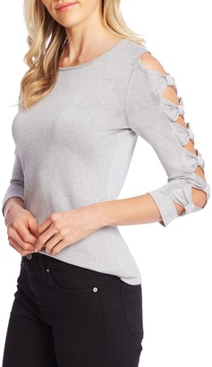 Cece By Cynthia Steffe Bow Sleeve Crewneck Sweater