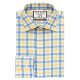 Thomas Pink Hercules Check Slim Fit Button Cuff Shirt
