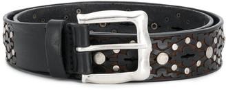 Orciani Laser-Cut Studded Belt