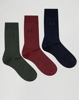 Pringle Endrick Socks In 3 Pack Multi