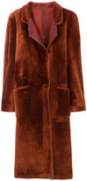 Petar Petrov furry single breasted coat