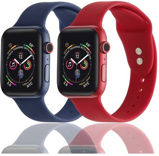 Posh Tech Silicone Bands for Apple Watch - Set of 2 - 38mm/40mm