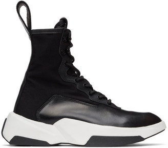 Julius Black Lace-Up Sneaker Boots