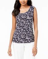 JM Collection Printed Jacquard Tank Top, Created for Macy's