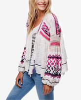Free People Dreamland Printed Tassel-Detail Cardigan