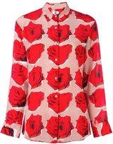 Paul Smith 'rose' print longsleeved shirt