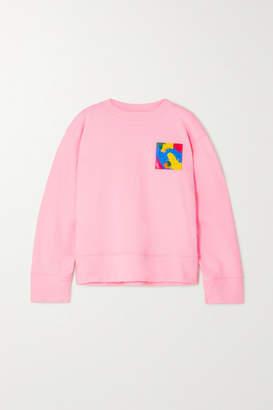 Moschino Appliqued Cotton-jersey Sweatshirt - Pastel pink
