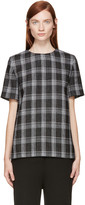 Proenza Schouler Black and White Plaid Blouse
