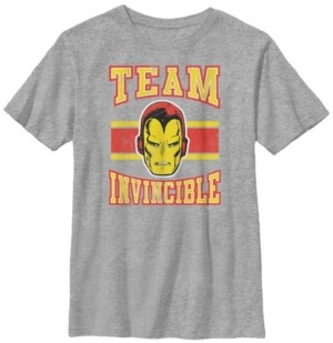 Fifth Sun Marvel Big Boys Classic Team Invincible Iron-Man Short Sleeve T-Shirt
