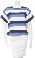 Piazza Sempione Striped Crew Neck Top