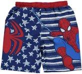 """Spiderman Little Boys' Toddler """"Star Slinger"""" Swim Trunks"""