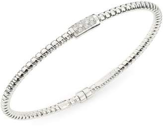 Bagutta Alberto Milani Via 18K White Gold & Diamond Coiled Bangle Bracelet