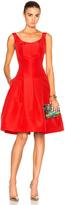 Oscar de la Renta Sleeveless Scoop Neck Dress
