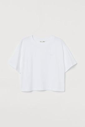H&M Straight-cut T-shirt - White