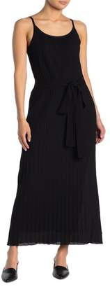 Theory Pleated Waist Tie Maxi Dress