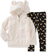 Juicy Couture White Bear Hoodie & Leggings - Infant, Toddler & Girls
