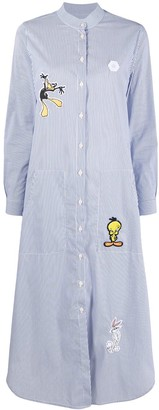 Moa Master Of Arts Looney Tunes patch shirt dress