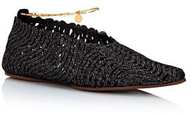 Stella McCartney Women's Woven Square-Toe Flats