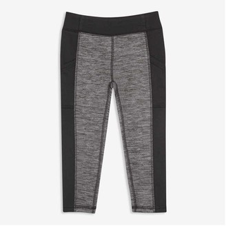 Joe Fresh Toddler Girls' Fleece Active Leggings, Charcoal Mix (Size 5)