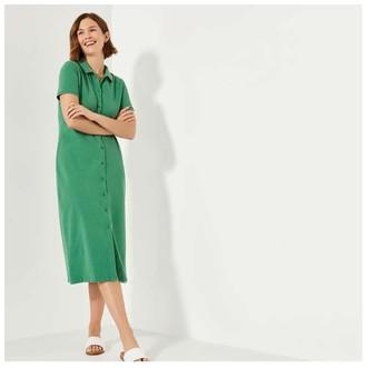Joe Fresh Women's Button-Front Midi Dress, Green (Size XS)