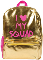 Fashion Angels Gold Metallic 'I Love My Squad' Backpack