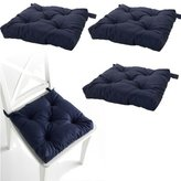 Ikea Set of 4 Navy Blue Chair Cushions Pads Machine Washable