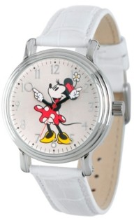 EWatchFactory Disney Minnie Mouse Women's Silver Vintage Alloy Watch
