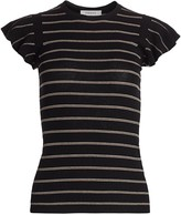 Frame Striped Wool Knit Top
