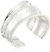 "Robert Lee Morris Set Sail"" Hammered Texture Sculptural Hinged Cuff Bracelet"