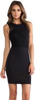 Donna Mizani Mesh Splice Dress
