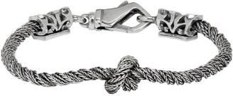Emanuele Bicocchi Silver Twisted Knot Bracelet