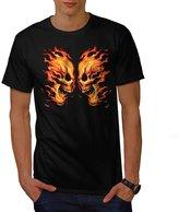 Skull Head Fire Skull Men XXXL T-shirt | Wellcoda