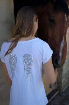 Luella Black Grey Wings T-Shirt - Grey