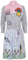 Peter Pilotto Appliquéd Gingham Cotton-Blend Poplin Shirt Dress